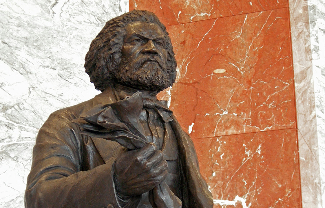 Frederick Douglass in the Emancipation Hall, Capitol Visitor Center