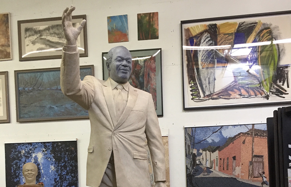 A Peek At The Forthcoming Marion Barry Memorial Statue